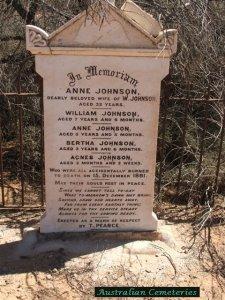 fire headstone johnson family