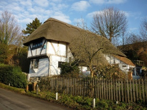 Pluckley medieval thatched house