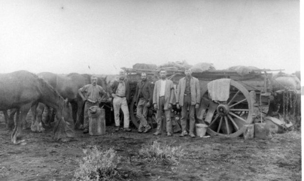 2nd from left (Jack) John Edward Heneker at work on East-West Railway line